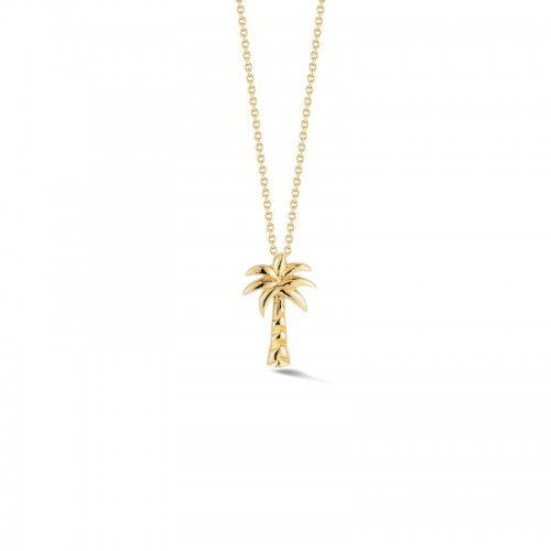 Roberto Coin  Yellow Gold Palm Tree Necklace