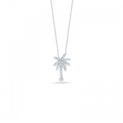 Roberto Coin  White Gold Diamond Palm Tree Necklace