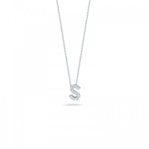 Roberto Coin White Gold Diamond Love Letter