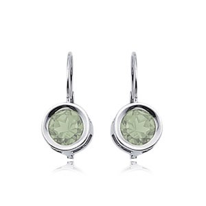 PD Collection Ss 6Mm Praseolite Mini Sweep Drop Earrings