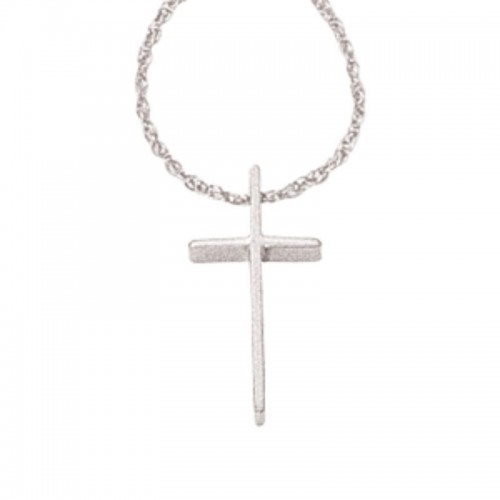 Pd Collection Ss Small Swedged Cross W/ Chain