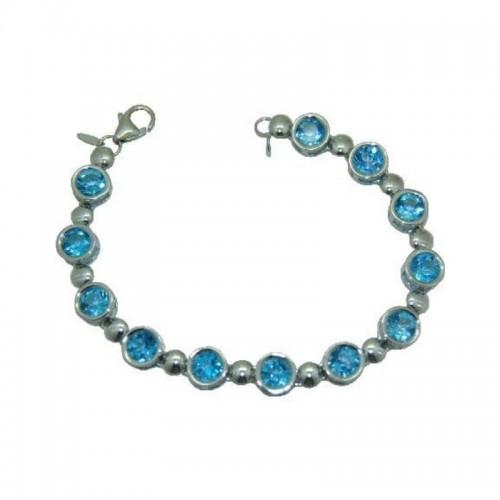 PD Collection Ss 12-6Mm Blue Topaz Bracelet