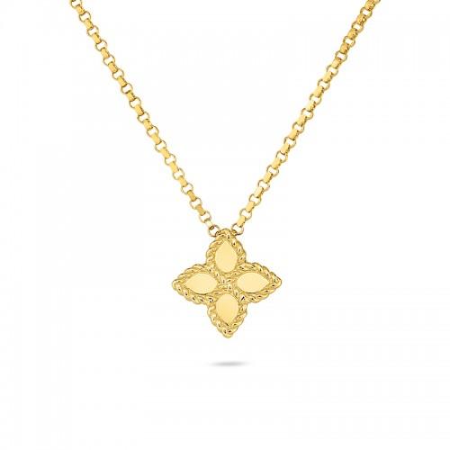 Roberto Coin  Yellow Gold Princess Flower Collar