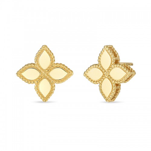 Roberto Coin  Yellow Gold Princess Flower Stud Earrings
