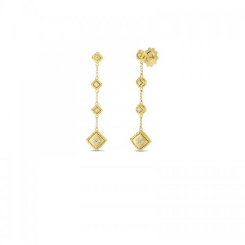Roberto Coin Yellow Gold 2-Drop Palazzo Ducale Diamond Earring