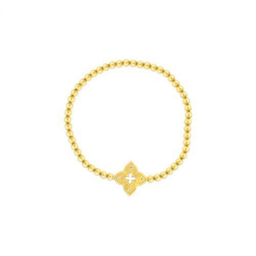 Roberto Coin 18K Gold Petite Diamond Venetian Bracelet