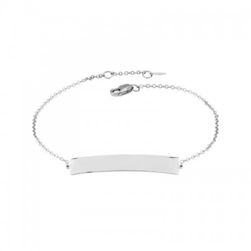 Pd Collection Ss Engravable Bar Bracelet 7-7.5
