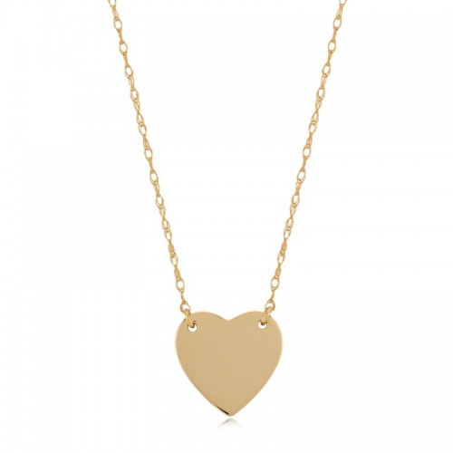 Pd Collection Yg Heart Necklace 16-18
