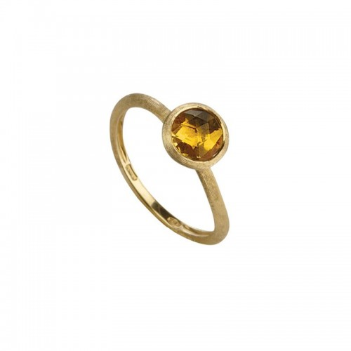 Marco Bicego 18K Yellow Gold Jaipur Single Stone Yellow Quartz Ring, Size 7