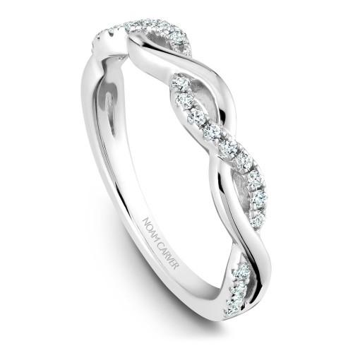 NC Sample 14K Wg Twist W/ .21Ctw Diamond Matching Band