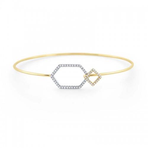 Geometric Diamond Bracelet