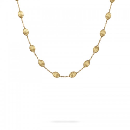 Marco Bicego 18K Yellow Gold Siviglia Collection Medium Bead Short Necklace 16