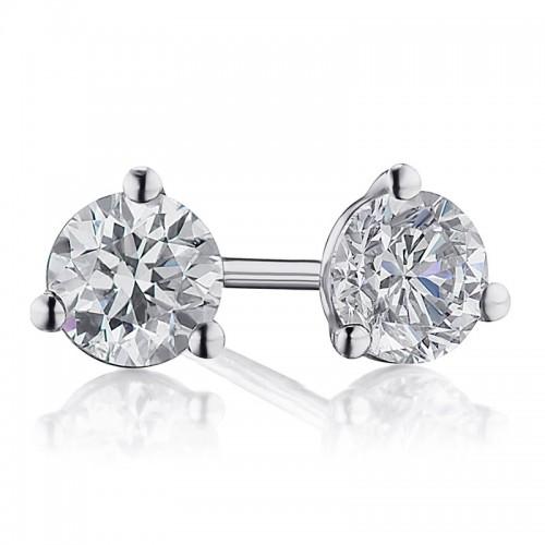 1/2TW Diamond Martini Stud Earrings