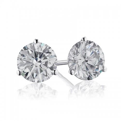2CTW Diamond Martini Stud Earrings