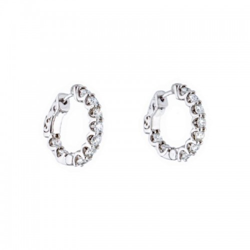 PD Collection Inside Out Diamond Hoops