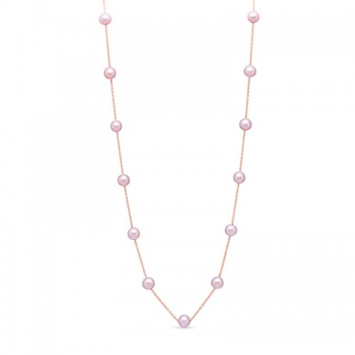 Mastoloni 14K RG PINK FWP TIN CUP NECKLACE 17