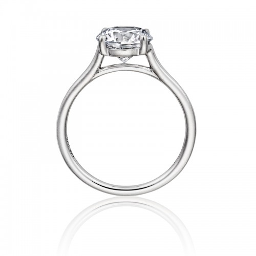 Henri Daussi polished solitaire semi mounting
