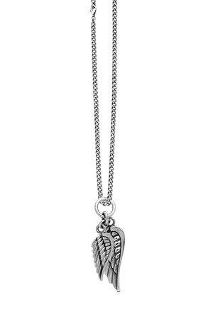 KB Ss Double Wings Pendant Necklace