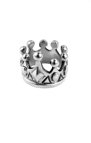 KB Ss Crown Ring