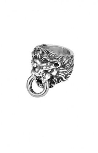KB Ss Lions Head Mens Ring