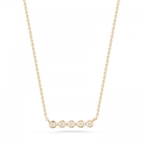 Dana Rebecca Lulu Jack Mini Bezel Bar Necklace