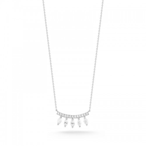 Dana Rebecca Alexa Jordyn Marquise Curve Necklace