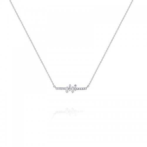 PD Collection Mosaic Diamond Bar Necklace