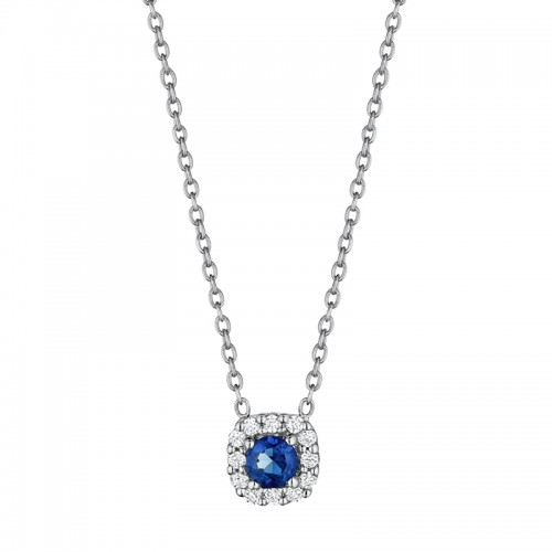 Classic Sapphire and Diamond Pendant