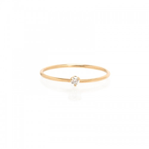 Zoe Chicco Small Prong Diamond Solitaire Ring