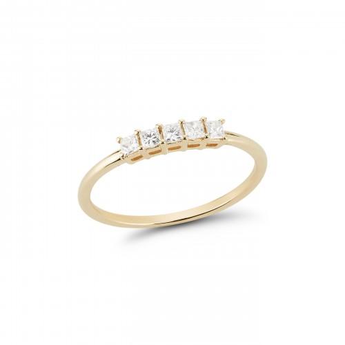 Dana Rebecca Millie Ryan Princess Cut Ring