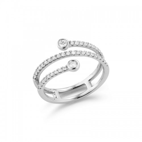 Dana Rebecca Lulu Jack Bezel and Pave Set Diamond Wrap Ring