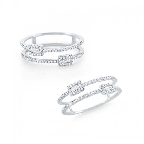 Diamond Double Band Ring