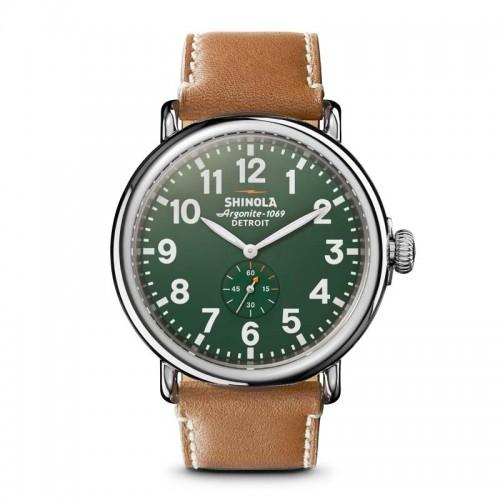 Runwell 47mm, Largo Tan Leather Strap Watch