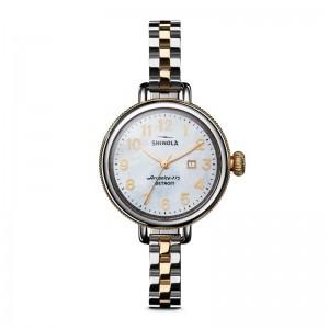 Birdy 3HD 34mm, MOP Silver/Gold Bracelet Watch