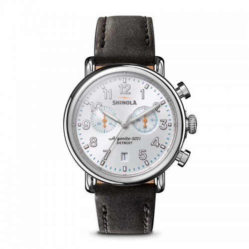 Runwell 2 Eye Chrono 41mm, Black Leather Strap Watch
