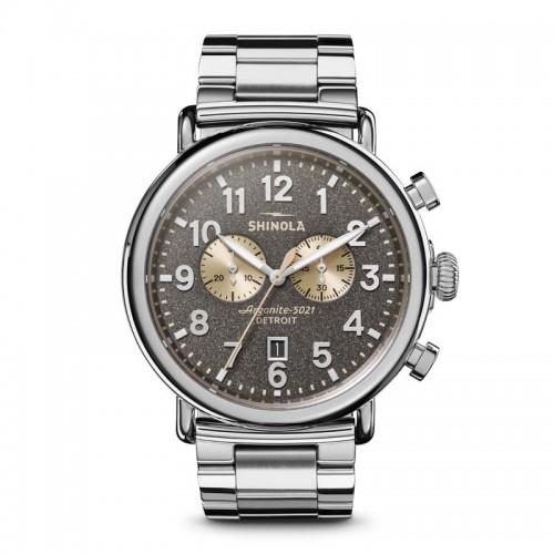 Runwell Chrono 47mm, Silver Bracelet Watch