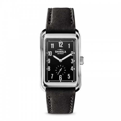 Omaha Sub Second 28x43mm, Black Leather Strap Watch