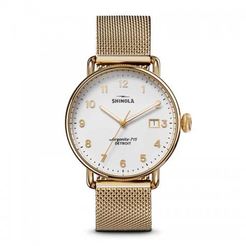 Canfield 3HD 38mm, Gold Bracelet Watch