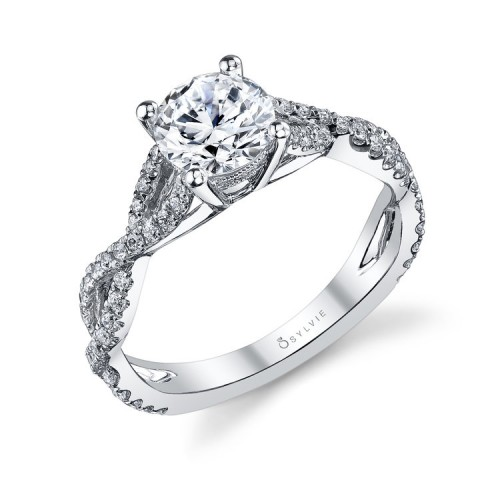 Sylvie Diamond Twist Ring Setting