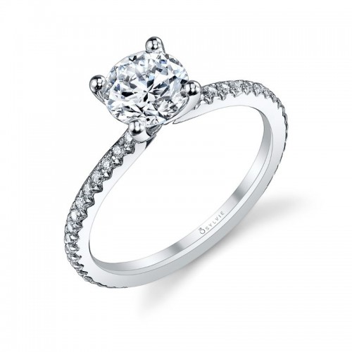 Sylvie Adorlee Round Engagement Ring