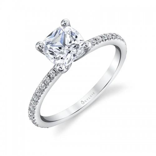 Sylvie Adorlee Cushion Engagement Ring