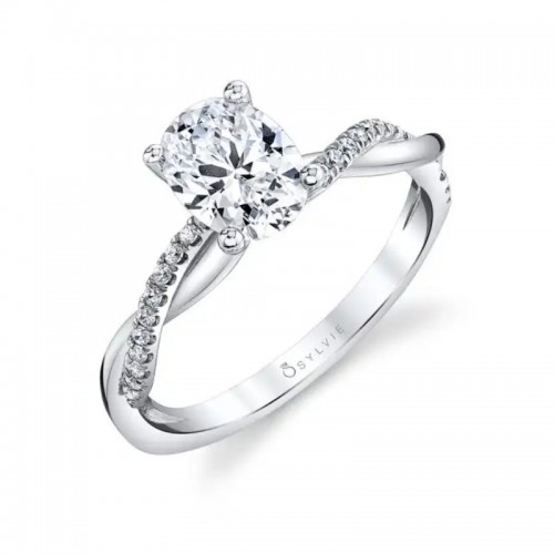 Sylvie Spiral Oval Engagement Ring