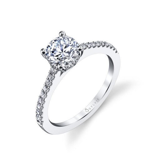 Sylvie Diamond Pave Half Shank Ring Setting