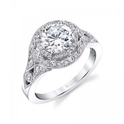 Sylvie Jade Vintage Inspired Engagement Ring