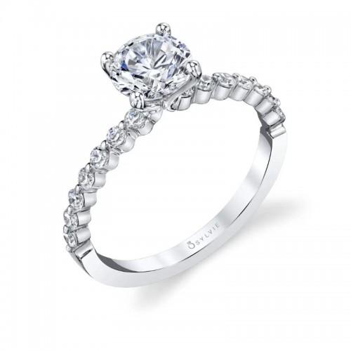 Sylvie Athena Round Engagement Ring