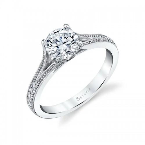 Sylvie Cherish Vintage Inspired Engagement Ring