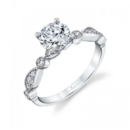 Sylvie Maya Round Engagement Ring