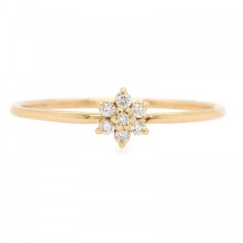 Zoe Chicco Prong Diamond Flower Ring