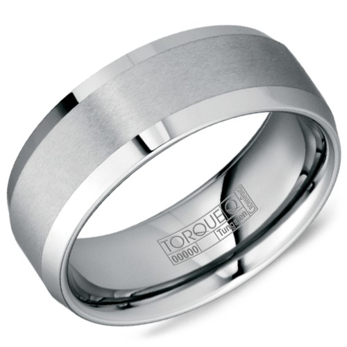 A tungsten Torque band with a brushed finish.