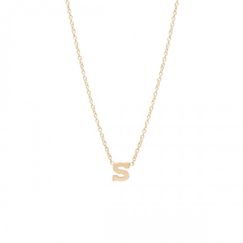 Zoe Chicco Gold Letter Necklace